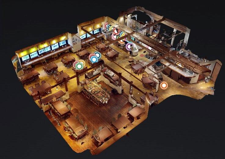 3Dで直営レストラン「驛(うまや)の食卓」に行ってみる?!  新感覚3Dの横浜ビール直営店「驛の食卓」を覗いてください♪ 3Dショーケース制作イージェ―ワークス